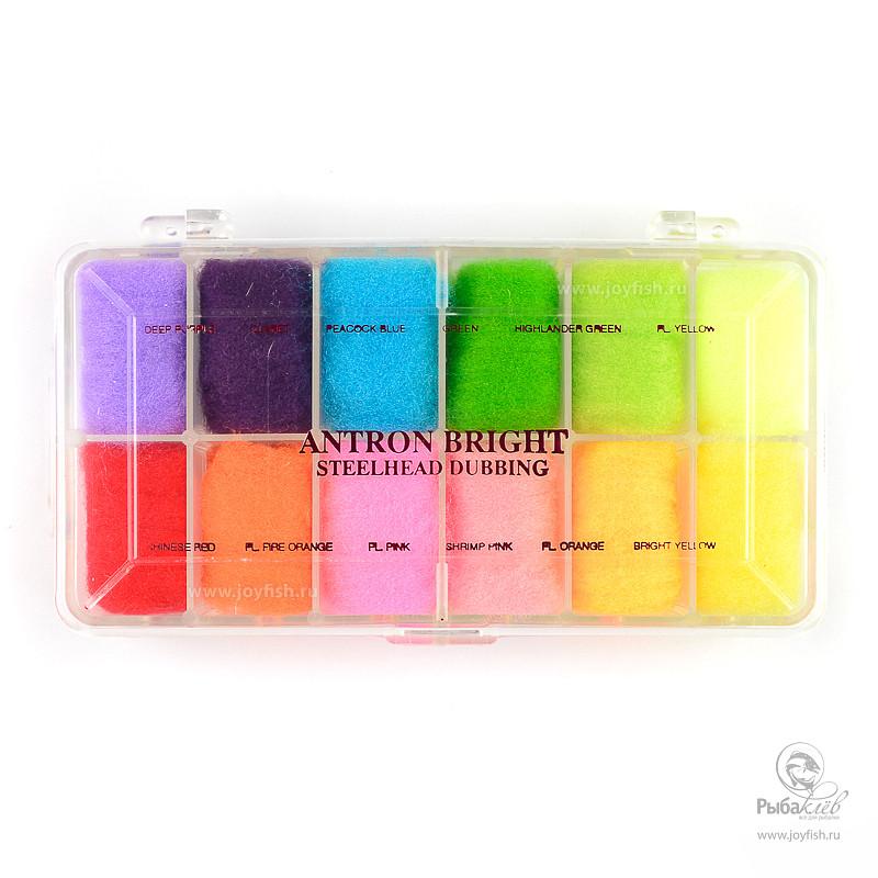 Набор Даббингов Wapsi Antron Bright Steelhead Dubbing набор даббингов wapsi super fine 30 color cube