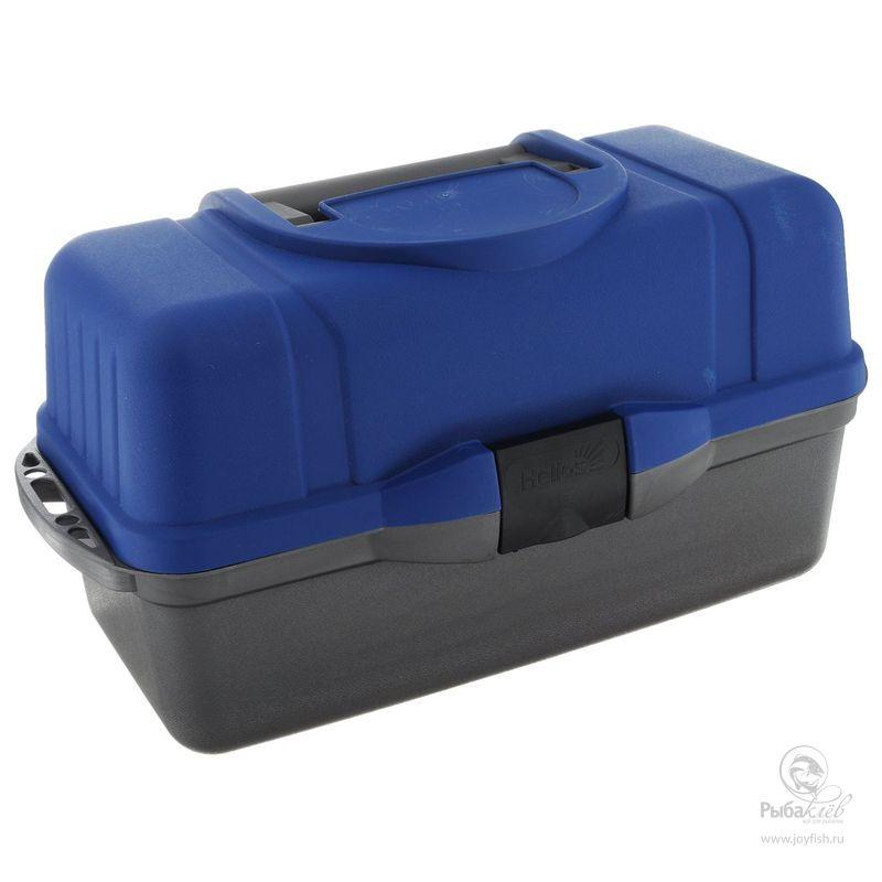 Ящик для Снастей Helios Трехполочный ящик рыболовный salmo трехполочный цвет зеленый
