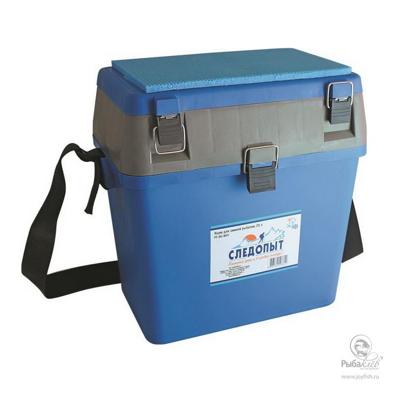 Ящик Рыболовный Зимний Следопыт ящик для рыболовных принадлежностей onlitop цвет зеленый черный 38 х 24 х 37 см