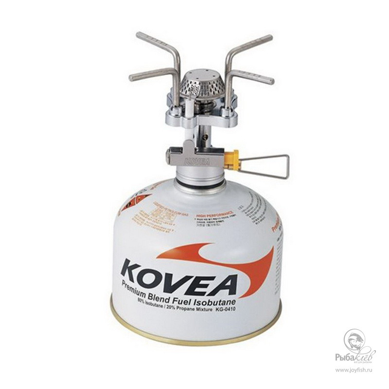 Газовая Горелка Kovea Solo Stove outdoor portable stainless steel butane gas stove silver red
