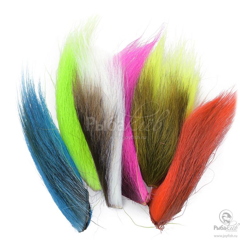 Набор Хвостов Оленя Hareline Bucktail Fluo