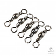 Вертлюги в Упаковке Mustad Black Barrel Swivels