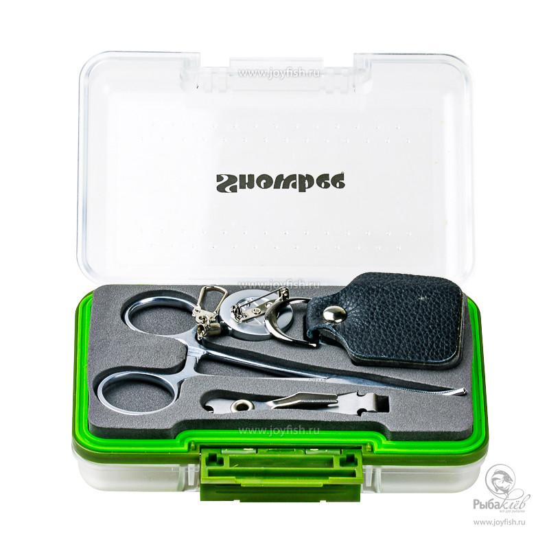 Комплект Инструментов и Коробки для Мушек Snowbee Waterproof Fly Box Tool Set