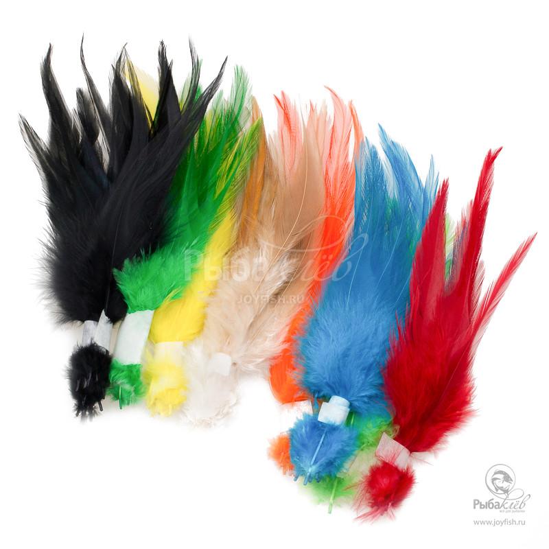 Набор Перьев Петуха Joyfish Strung Rooster Saddles Mix