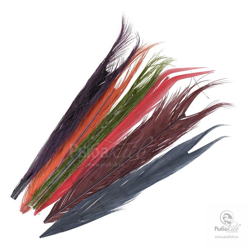 Перья Охотничьего Фазана Отбеленные Veniard Cock Pheasant Centre Tails Mixed