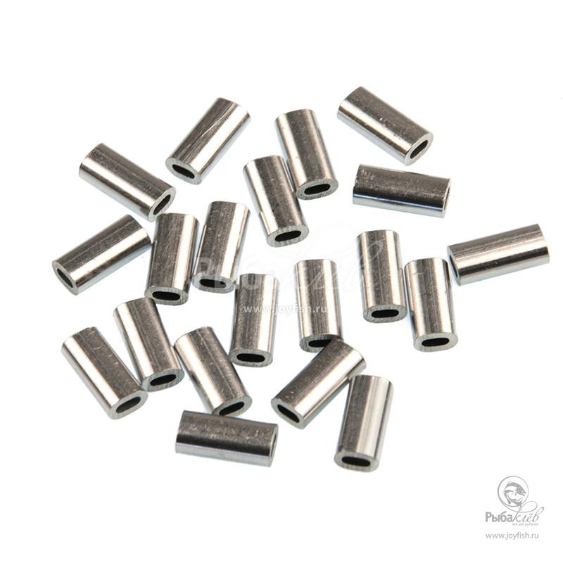 Трубки Обжимные в Упаковке Trabucco Crimps Oval Aluminium
